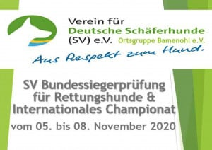SV BSP für Rettungshunde & Internationales Championat