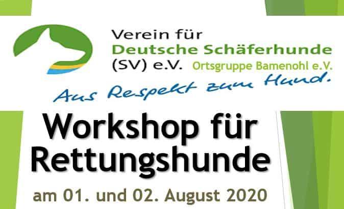 neuer RH Workshop u.a. mit Flächensuche und Mantrailing