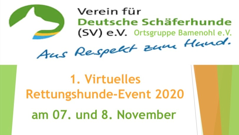 Virtuelles Rettungshunde-Event