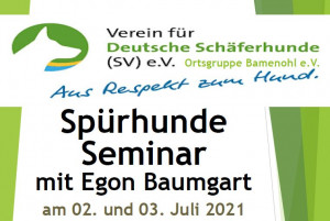 Spürhund Seminar mit Egon Baumgart